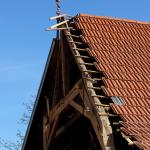 Arbeiten am alten Dachstuhl